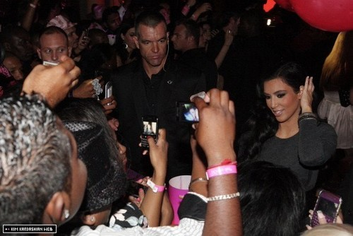 Kim and Khloe make an appearance at the Rand Club in South Africa 12/16/10
