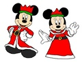 King Mickey and কুইন Minnie - বড়দিন