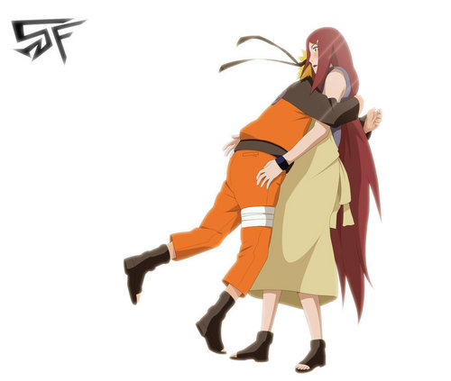 Kushina Uzumaki wallpaper entitled Kushina and Naruto
