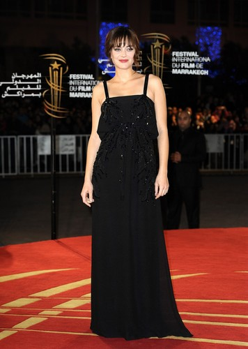 Marion Cotillard wallpaper possibly containing a dinner dress entitled Marion @ 10th Marrakech International Film Festival - Tribute to French Cinema