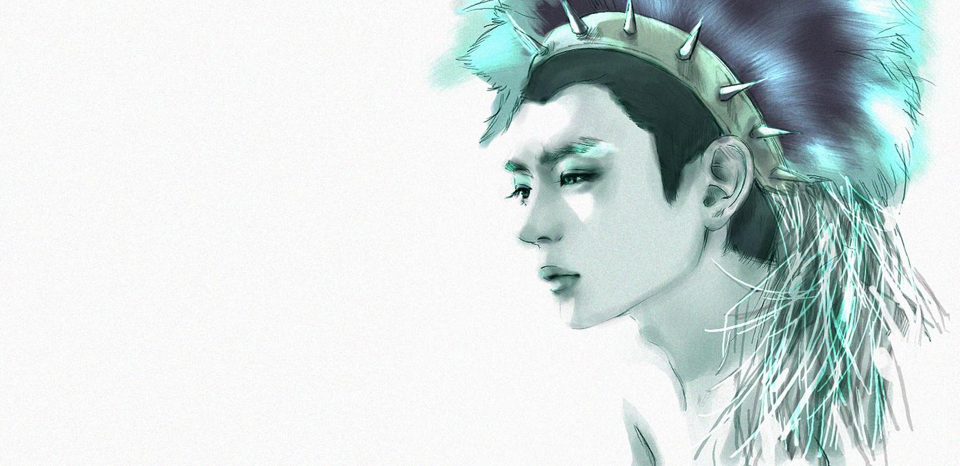 fanarts shinee hello y lucifer Minho-Lucifer-Fan-Art-shinee-17836128-1400-680