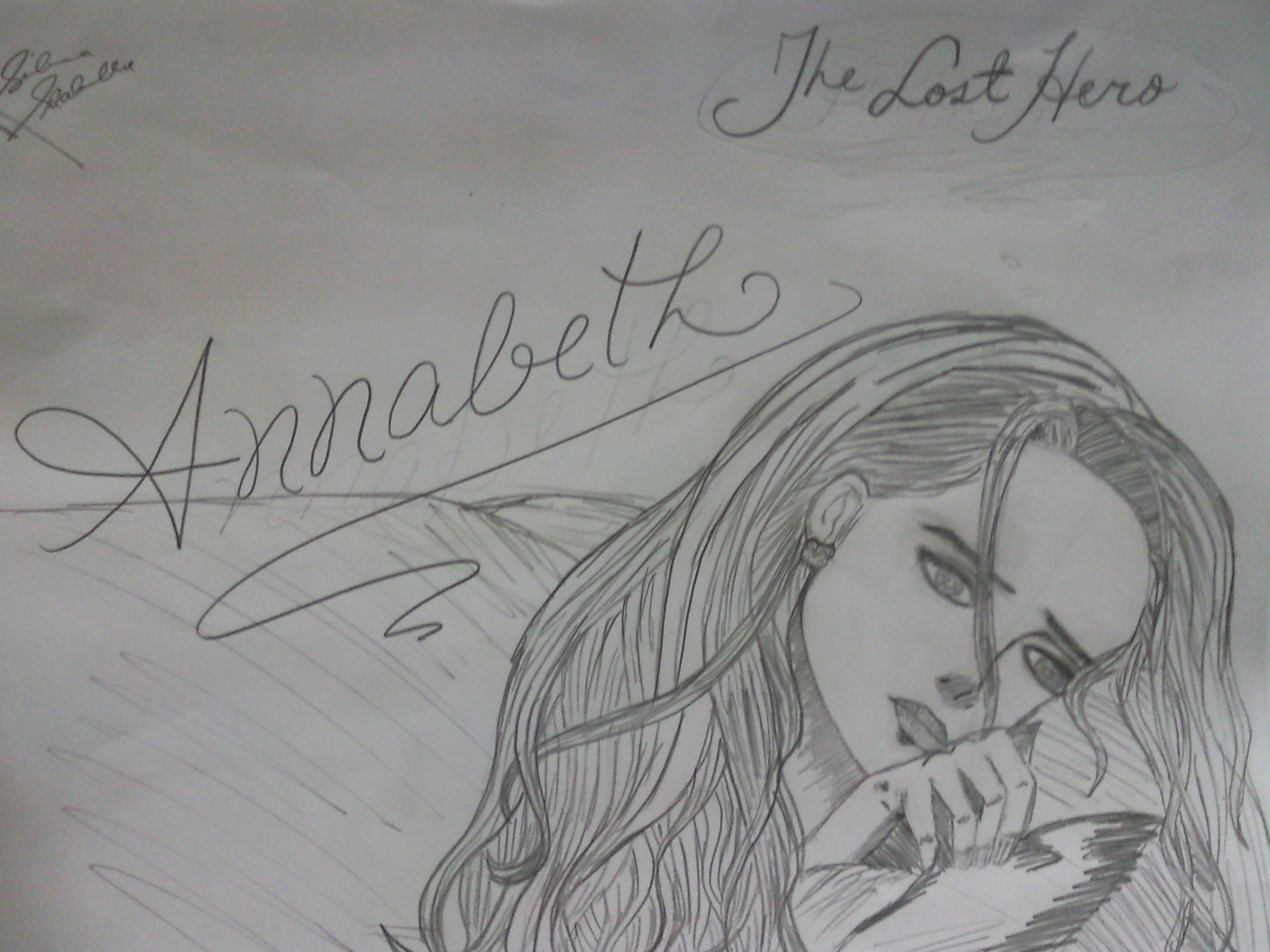 Percy jackson girls fond décran probably containing animé titled my drawing of annabeth chase