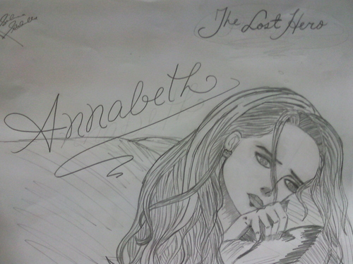 My drawing of Annabeth Chase