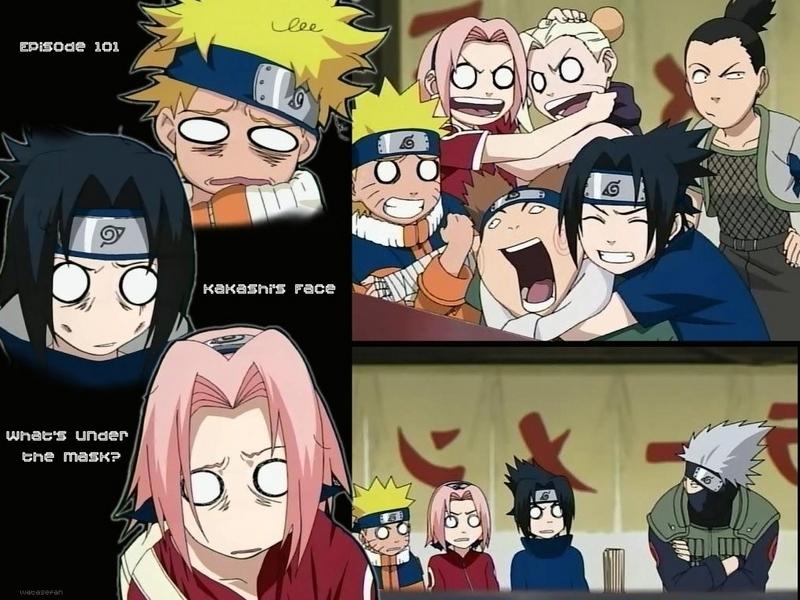Naruto episode 101. Whats under Kakashi Sensei's mask!!!
