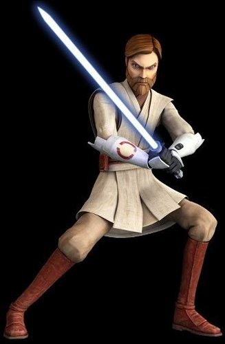 étoile, étoile, star Wars: Clone Wars fond d'écran probably with a lippizan titled Obi-Wan's new look