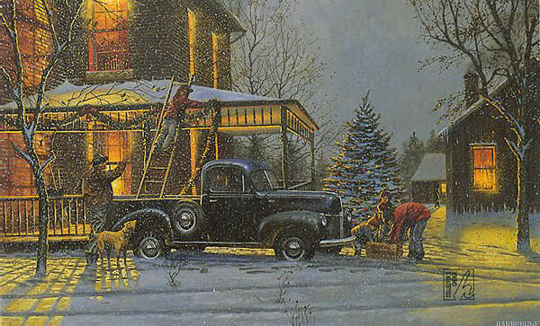 old fashioned christmas town wallpaper - photo #33