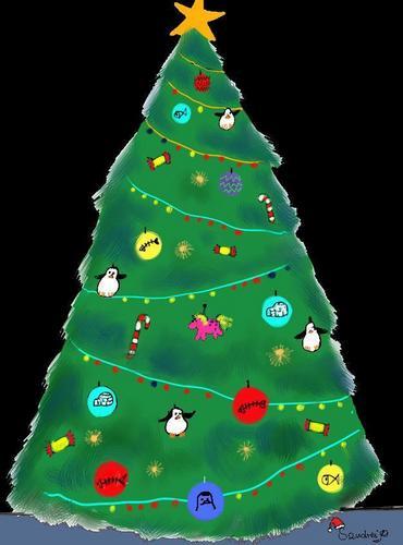 POM क्रिस्मस पेड़