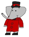 Pom - Christmas Outfit - babar-the-elephant fan art