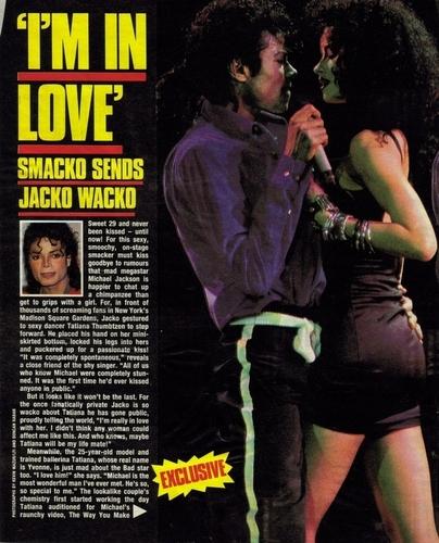Press 記事 about the kiss:MJ/Tati