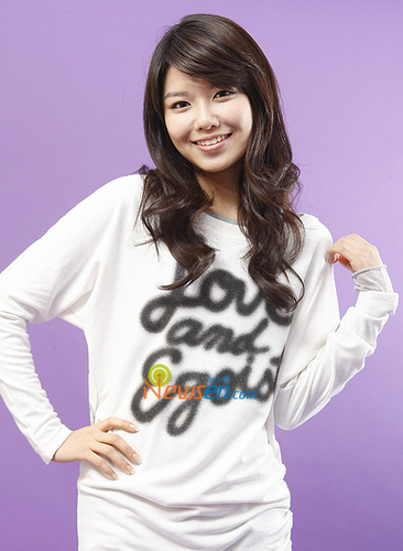 Choi Sooyoung wallpaper probably with an outerwear, a leisure wear, and a blouse called Pretty girl <3<3