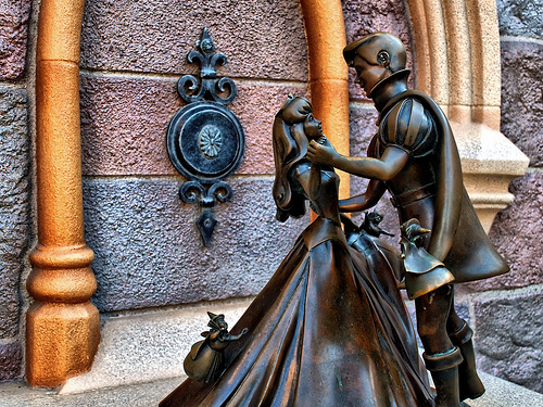 Princess Aurora and Prince Phillip Statue