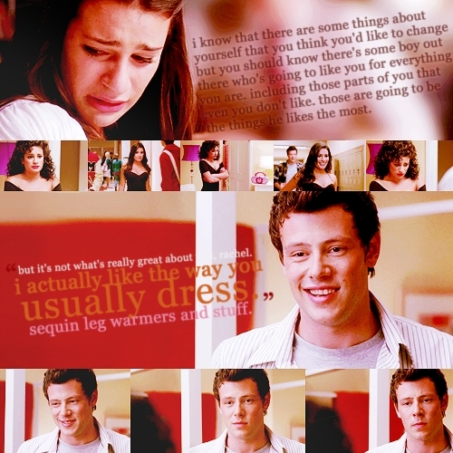 Rachel Berry karatasi la kupamba ukuta with a portrait called Rachel & Finn