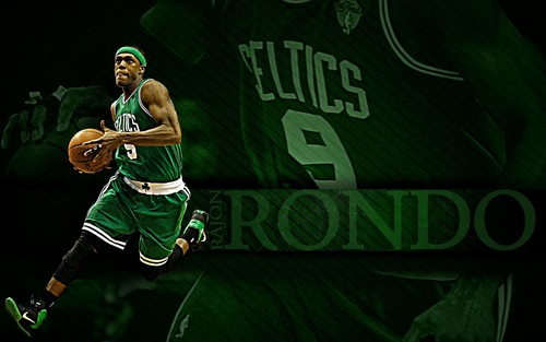 Rajon Rondo Hintergrund with a basketball player and a dribbler called Rajon Rondo