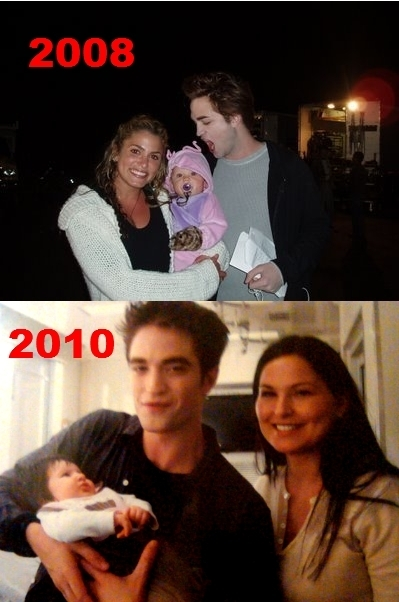 Rob and babies. lol!