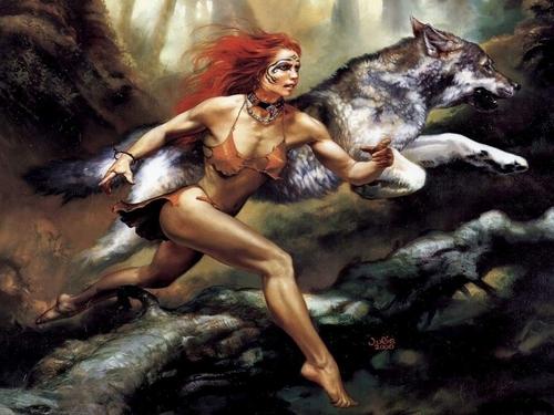 Fantasy wallpaper entitled Running wild