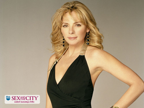 karakter wanita di tv wallpaper possibly with a bustier and a maillot titled Samantha Jones
