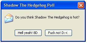 Shadow The Hedgehog poll