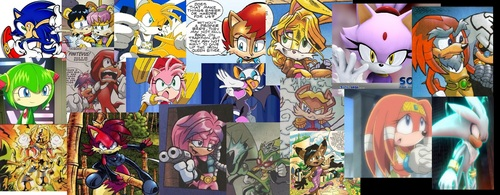 Sonic Character Collage