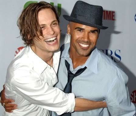 Esprits Criminels fond d'écran probably containing a fedora entitled Spencer Reid and Derek morgan
