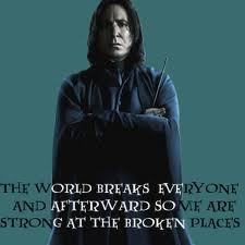 Severus Piton wallpaper probably with a mantello called Strong At The Broken Places