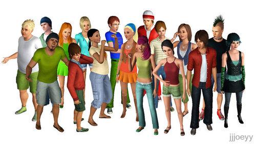 TDWT Cast - Sims 3