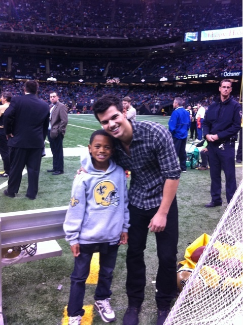 Taylor Lautner At The New Orleans Saints NFL Game
