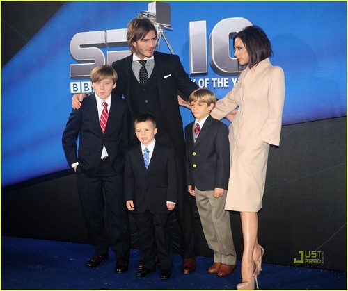 The Beckhams @ BBC Sports Personality of the anno Awards