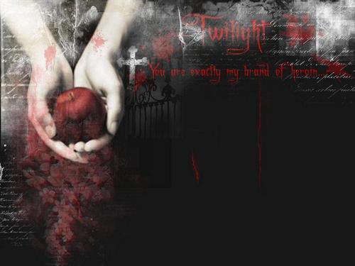 Twilight Dark Red apfel, apple Background