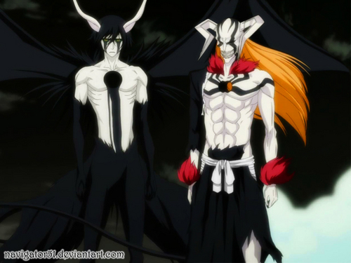 Ulquiorra and Resurrected Ichigo