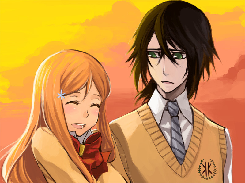 ulquiorra wallpapers. Ulquiorra and Orihime