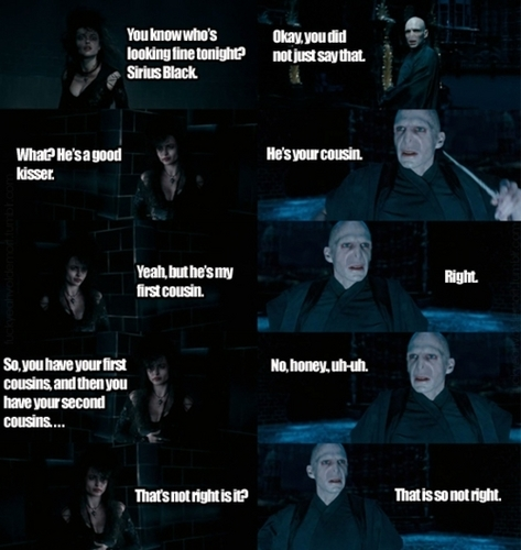 Voldemort calls Bellatrix honey!