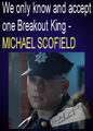 We only know and accept one Breakout King - MICHAEL SCOFIELD - wentworth-miller fan art