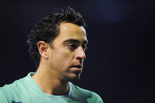 Xavi playing for Barca
