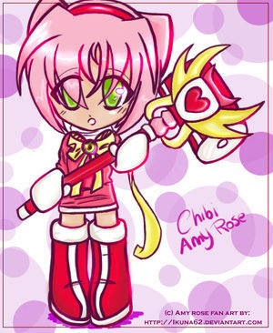 chibi amy rose