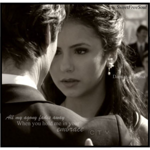 Damon & Elena wallpaper containing a portrait titled de!♥