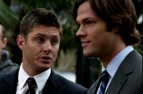 The Winchesters پیپر وال with a business suit and a suit titled dean and sam winchester