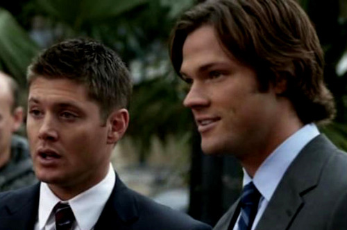 The Winchesters वॉलपेपर with a business suit, a suit, and a two piece called dean and sam winchester