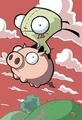 gir on pig - gir photo