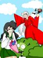 gir+zim+inuyasha+kagome(inuyasha has no hand)(dont own this) - gir fan art