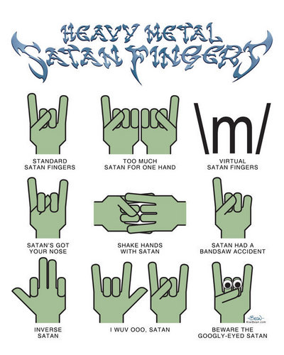 Music wallpaper titled satanic hand signs