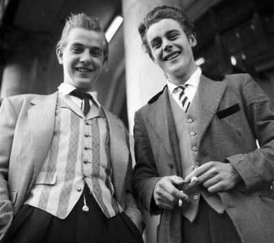 teddy boys, manchester 1955 - teddy-boy Photo