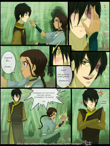 Avatar: The Last Airbender achtergrond containing anime entitled zutara
