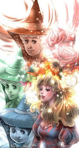 ♥Princess Aurora and the Fairies♥