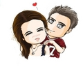 Adaorable Cartoon Stelena <3