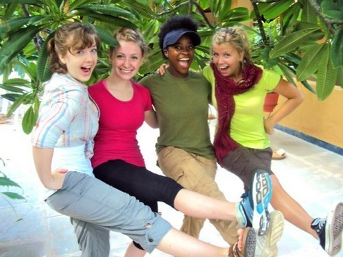 Aislinn and friends in India