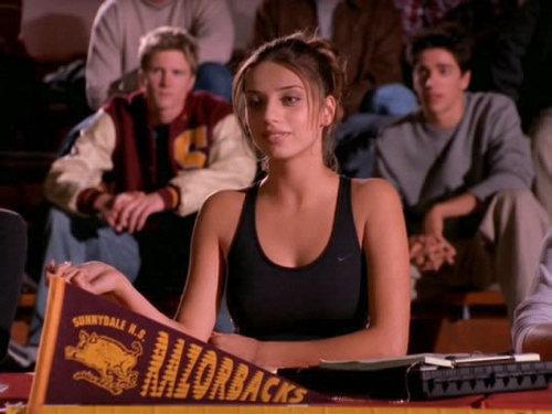 Angela on Buffy The Vampire Slayer (2002) in the episode HimScreenshots, Copyright 2002 Warner Bros.