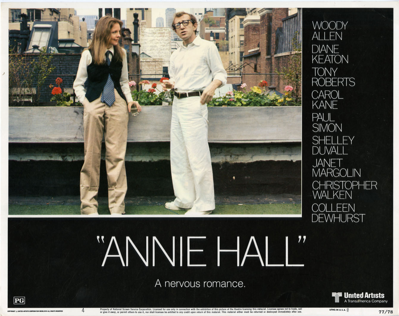 an analysis of annie hall a movie by woody allen Annie hall is a romantic comedy directed by woody allen and written by woody allen and marshall brickman released in 1977, it was a departure from the slapstick comedies that woody allen was so.