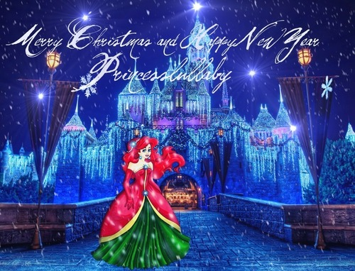 Disney Princess wallpaper entitled Ariel Christmas
