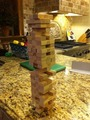 Caitlin's the champion of Jenga