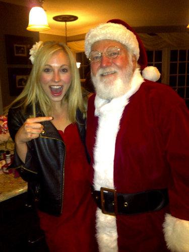 Candice and Santa :)